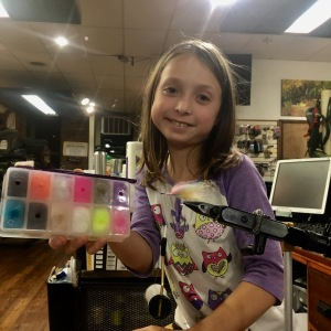 The Sanyo's Laser Dub assortment has all the colors an 8 year-old girl loves. And fish too!