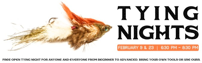 February Grizzly Hackle Fly Tying Nights